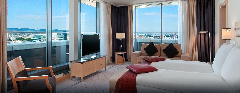 Vom Hotel im Stadtzentrum haben Sie einen Ausblick auf ganz Wien