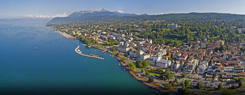 Hôtel Hilton Evian-les-Bains, France - Vue panoramique sur Évian
