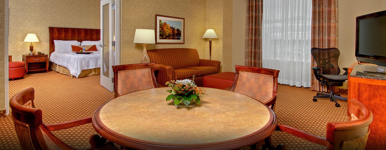 Hôtel Hilton Garden Inn Ottawa Airport, ON, Canada - Suite avec très grand lit