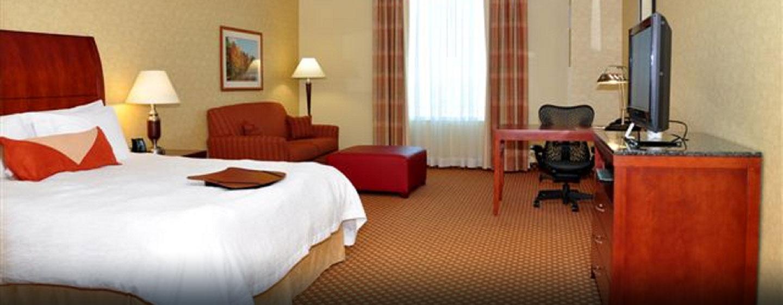 Hôtel Hilton Garden Inn Ottawa Airport, ON, Canada - Chambre avec très grand lit et canapé