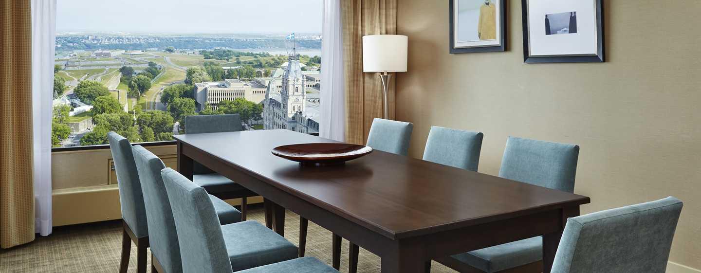 Hôtel Hilton Quebec, Canada - Salle à manger d'une suite