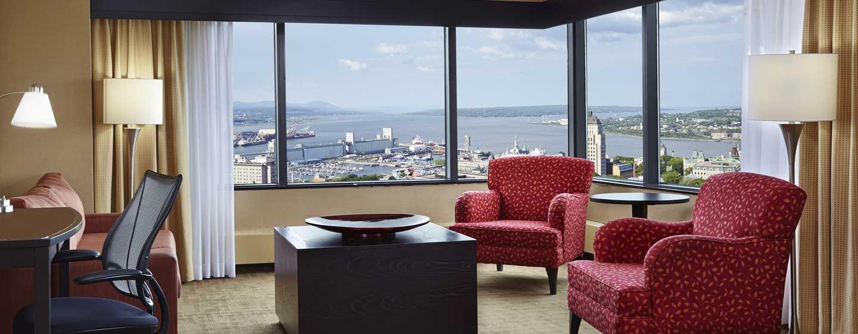 Hôtel Hilton Quebec, Canada - Salon d'une suite