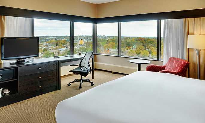 Hôtel Hilton Quebec, Canada - Chambre de luxe avec vue sur le fleuve