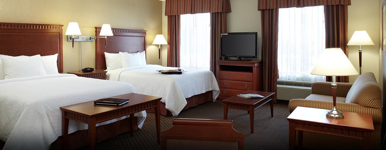 Hôtel Hampton Inn & Suites by Hilton Montreal-Dorval, Q.B., Canada - Suite Studio avec deux grands lits