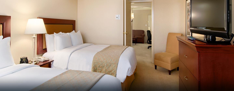 Hôtel Hilton Vancouver Airport, CB, Canada - Suite junior avec deux lits doubles