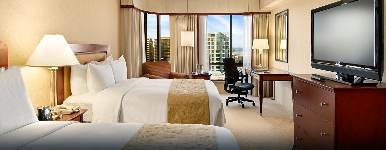 Hôtel Hilton Vancouver Airport, CB, Canada - Chambre avec deux lits