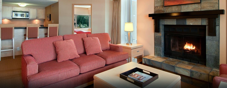 Hôtel Hilton Whistler Resort & Spa, CB - Suite Alpine avec cheminée