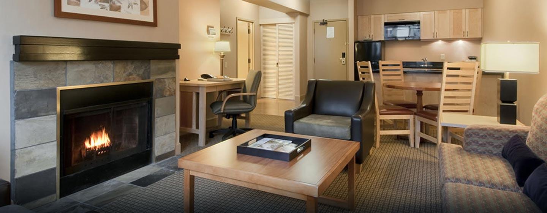 Hôtel Hilton Whistler Resort & Spa, CB - Suite Glacier avec cheminée