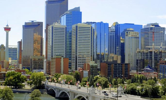 Hôtel Hampton Inn & Suites By Hilton Calgary-University Northwest, Alb., Canada - Vue sur le centre-ville