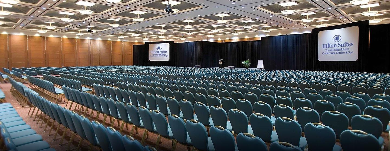 Hôtel Hilton Toronto Markham Suites Conference Centre & Spa, ON, Canada - Centre de conférence