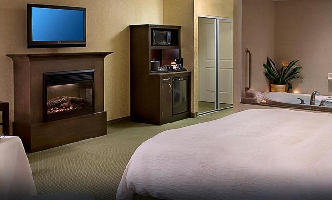 Hôtel Hilton Garden Inn Toronto Downtown, ON, Canada - Chambre avec très grand lit et bain à remous