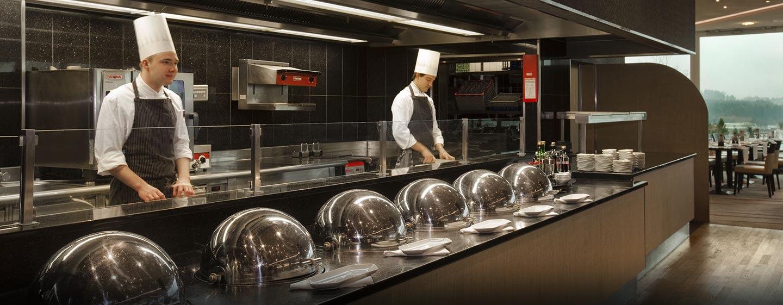 Hôtel Hilton Zurich Airport, Suisse - Restaurant Market Place