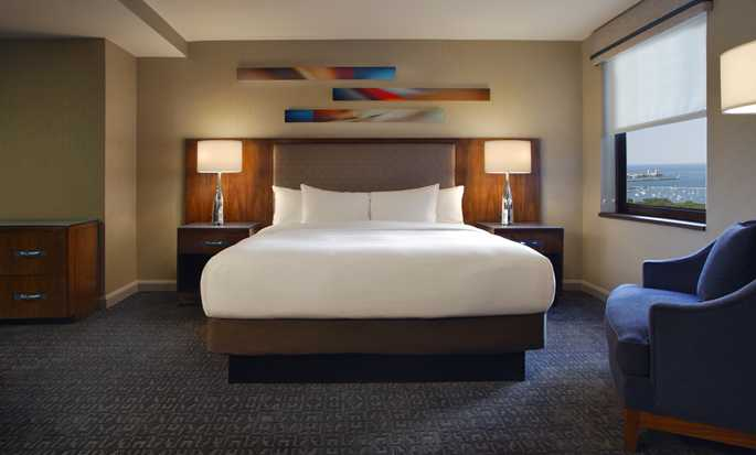 Hilton Chicago, Illinois - Habitación con cama King