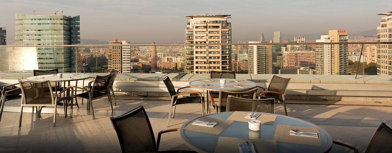 Hilton Diagonal Mar Barcelona, España - Terraza de la planta ejecutiva
