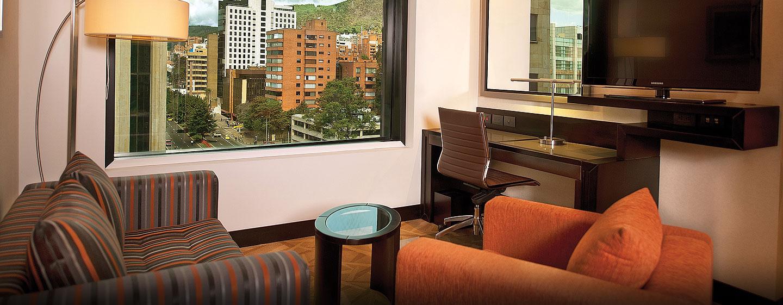 Hilton Bogotá - Suite de un dormitorio con una cama King