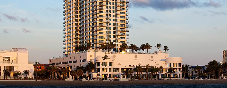 Hotel Hilton Fort Lauderdale Beach Resort, FL - Fachada del hotel