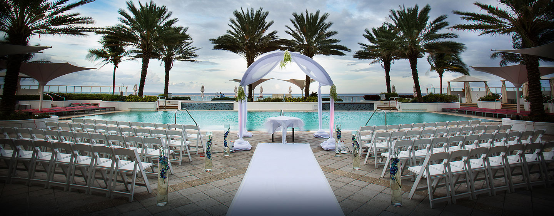 Hotel Hilton Fort Lauderdale Beach Resort, FL - Boda en la terraza Sunrise