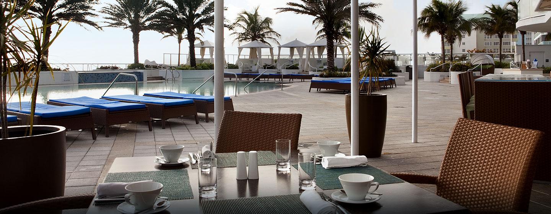 Hotel Hilton Fort Lauderdale Beach Resort, FL - Terraza ilios