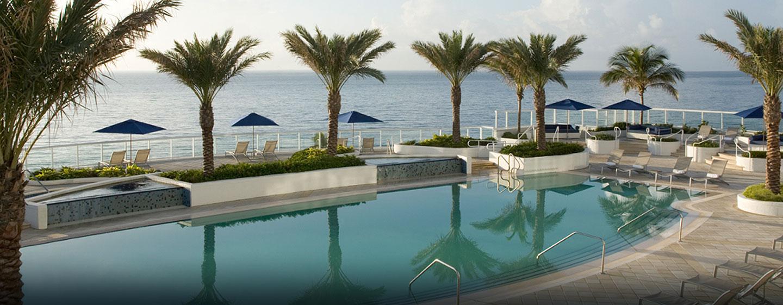 Hotel Hilton Fort Lauderdale Beach Resort, FL - Piscina