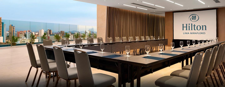 Hilton Lima Miraflores, Perú - Sala de reuniones en la última planta