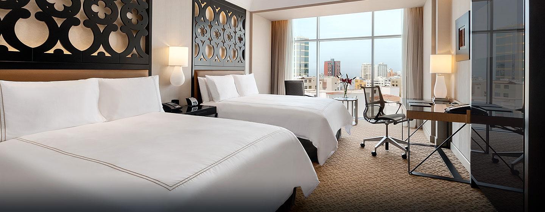 Hilton Lima Miraflores, Perú - Habitación estándar con camas Queen