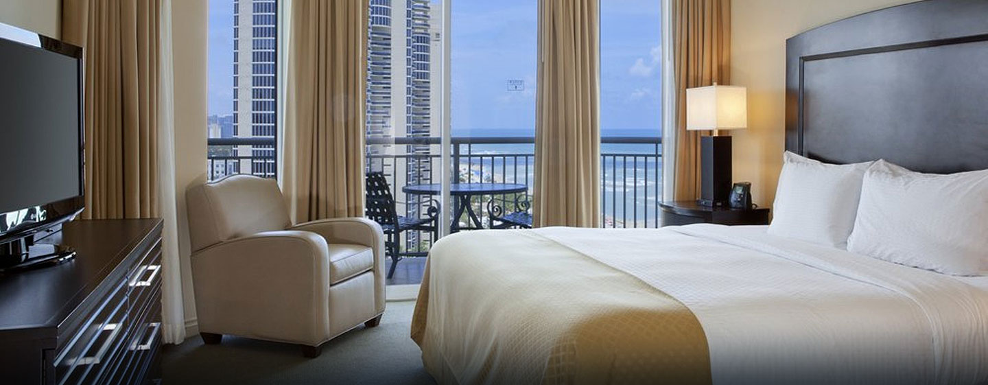 Hotel DoubleTree by Hilton Ocean Point Resort & Spa - North Miami Beach, FL - Suite de un dormitorio con cama King