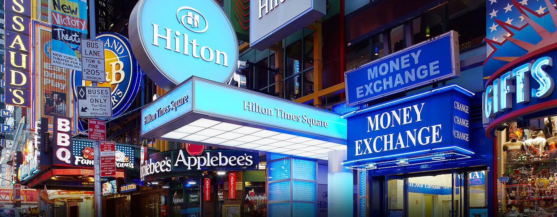 Hotel Hilton Times Square, Nueva York, NY - Entrada del hotel