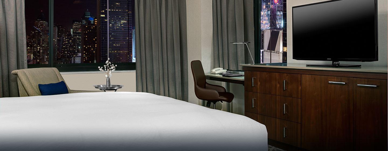 Hotel Hilton Times Square, Nueva York, NY - Habitación con cama King
