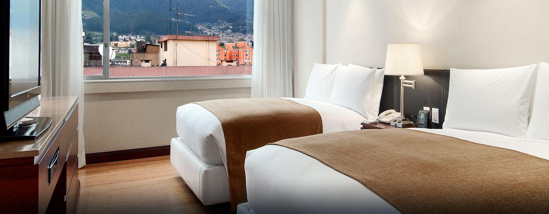 Hotel Hilton Colón Quito, Ecuador - Habitación ejecutiva con camas dobles