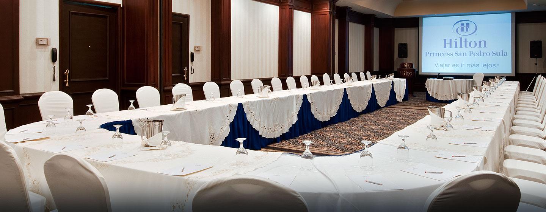Hilton Princess San Pedro Sula Hotel, Honduras - Sala de reuniones con montaje U
