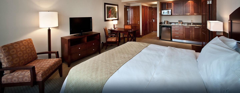 Hotel Condado Lagoon Villas at Caribe Hilton, San Juan, Puerto Rico - Villa tipo estudio con cama King y vista a la ciudad