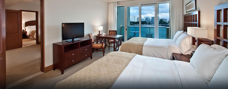 Hotel Condado Lagoon Villas at Caribe Hilton, San Juan, Puerto Rico - Villa tipo estudio con cama Queen y vista al mar