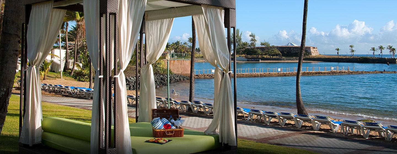 Hotel Caribe Hilton - Cabañas en la playa