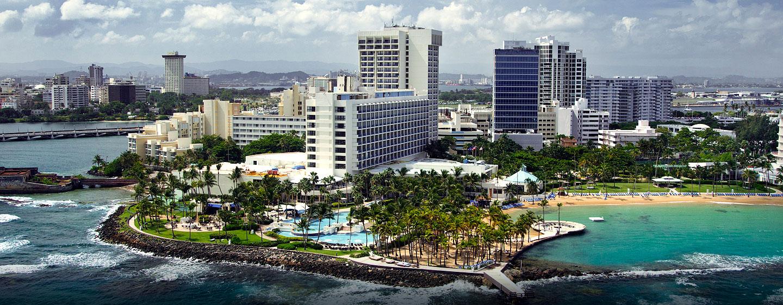 Hotel Caribe Hilton - Vista aérea