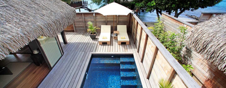 H tels papetoai hilton moorea lagoon resort spa for Garden pool bungalow hilton moorea