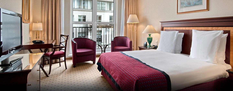 Hôtel Hilton Antwerp Old Town, Belgique - Chambre avec très grand lit