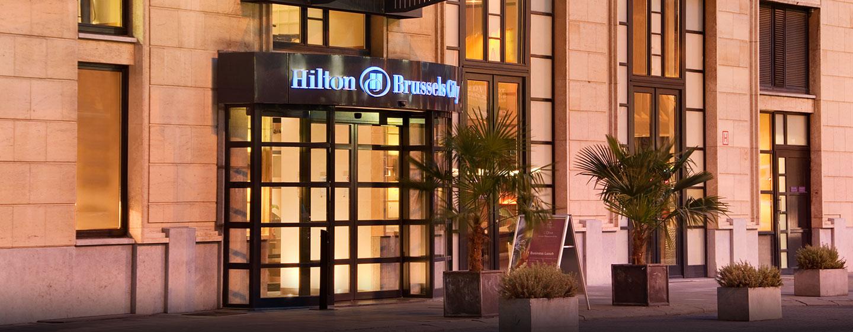 H tels centre ville de bruxelles hilton brussels city for Hotel piscine bruxelles