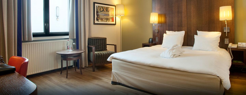 Hôtel Hilton Brussels City, Belgique - Chambre avec très grand lit