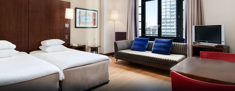 Hôtel Hilton Brussels City, Belgique - Chambre de luxe avec lits jumeaux