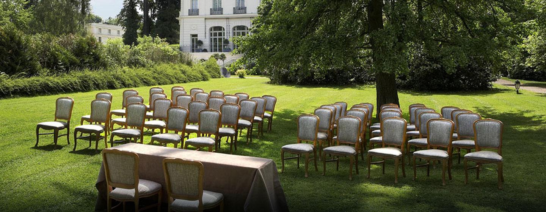 Hôtel Trianon Palace Versailles, Waldorf Astoria, France - Réception de mariage en extérieur