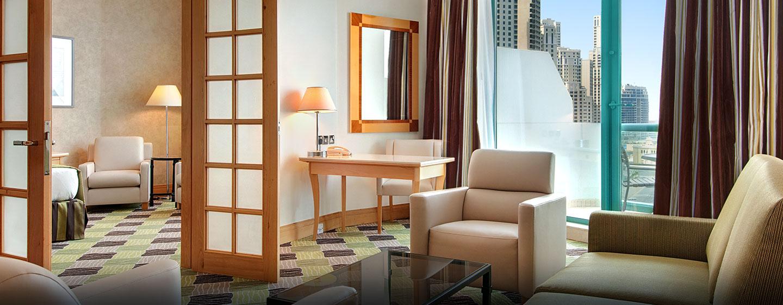 Hôtel Hilton Dubai Jumeirah Resort, UAE - Suite exécutive avec très grand lit
