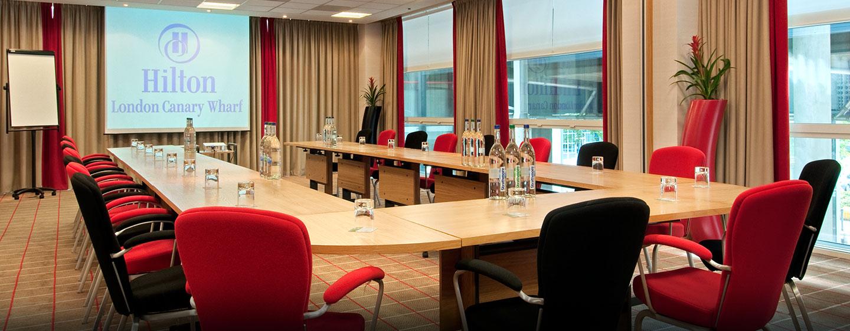 Hôtel Hilton London Canary Wharf, Londres - Salle de réunion polyvalente