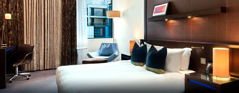 Hôtel Hilton London Canary Wharf, Londres - Chambre Hilton avec un lit double