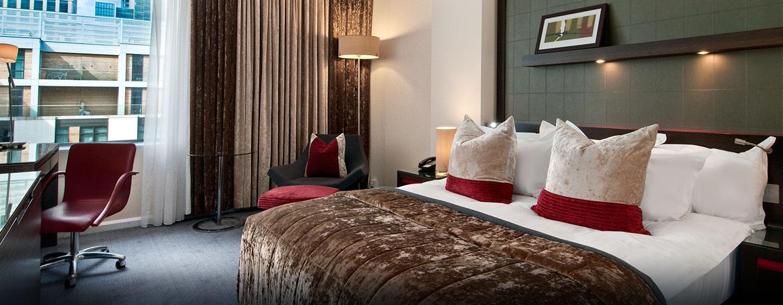 Hôtel Hilton London Canary Wharf, Londres - Chambre exécutive Hilton avec très grand lit