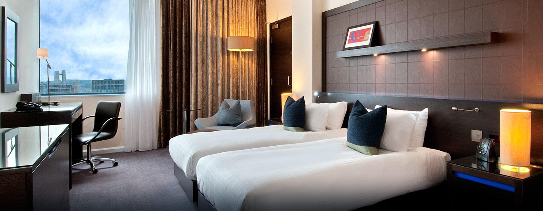 Hôtel Hilton London Canary Wharf, Londres - Chambre Hilton avec lits jumeaux