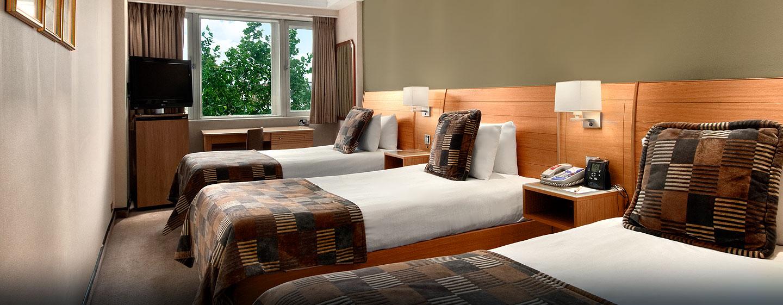 Hôtel Hilton London Metropole, Royaume-Uni - Chambre familiale avec lits jumeaux