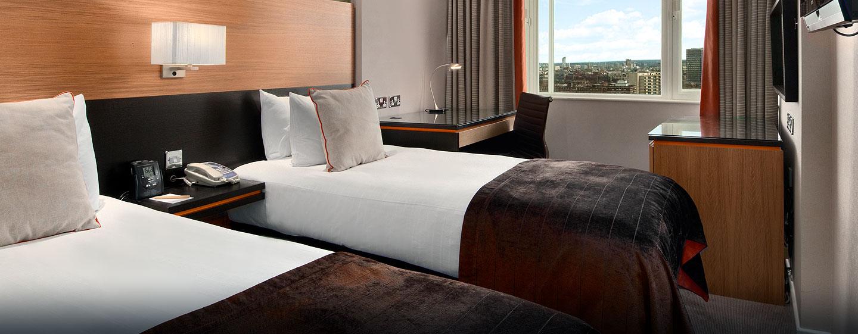 Hôtel Hilton London Metropole, Londres - Chambre de luxe avec lits jumeaux