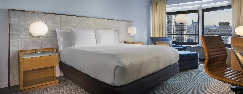 Hôtel New York Hilton Midtown, États-Unis - Chambre exécutive avec très grand lit