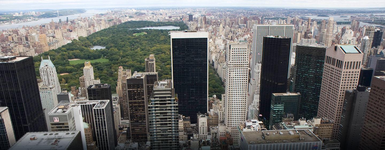 Hôtel New York Hilton Midtown, États-Unis - Vue sur la ville de New York et Central Park