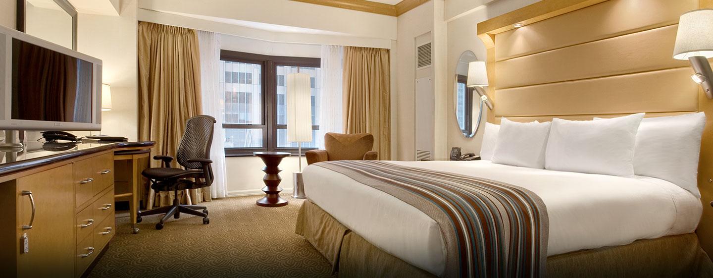 Hôtel New York Hilton Midtown, États-Unis - Chambre avec très grand lit